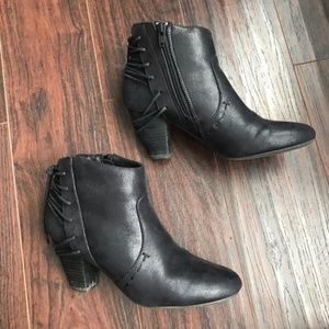 Report Milla Gray Ankle Booties Size 8.5
